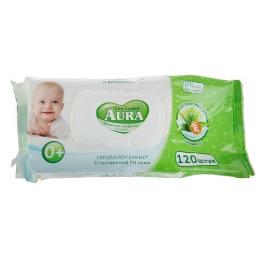"""Aura влажные салфетки для детей """"Ultra Comfort"""" с экстрактом алоэ и витамином Е с крышкой"""