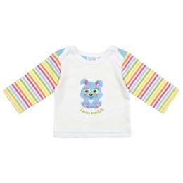 """Курносики футболка с длинным рукавом """"Голубой кролик"""""""