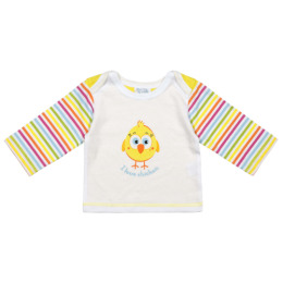 """Курносики футболка с длинным рукавом """"Желтый цыпленок"""""""