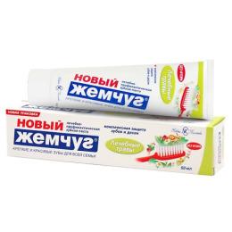 """Новый Жемчуг зубная паста """"Лечебные травы"""""""