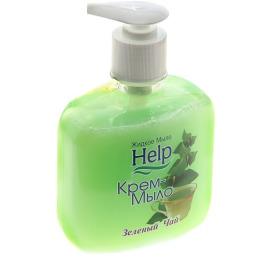 """Help крем-мыло """"Зеленый чай"""" с дозатором"""