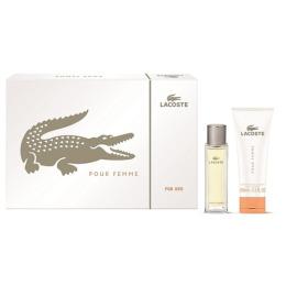 "Lacoste набор ""Pour Femme"" парфюмированная вода 50 мл + крем для тела 100 мл"