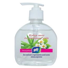 """Help жидкое мыло """"Деликатное"""" для интимного ухода с дозатором"""