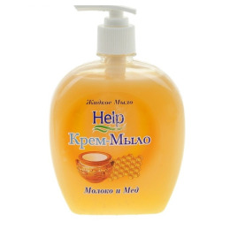 """Help жидкое мыло """"Молоко и мед"""" с дозатором"""