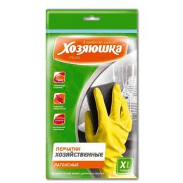 Хозяюшка Мила перчатки хозяйственные латексные размер XL