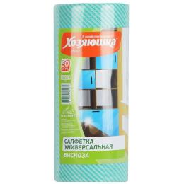 Хозяюшка Мила салфетки для ежедневной уборки вискоза перфорированная 20 х 40 см, в рулоне, КС-07