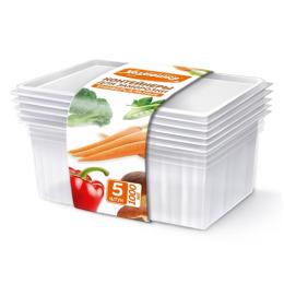 Хозяюшка Мила контейнеры для заморозки универсальные, 1л, 5 шт