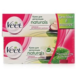 """Veet крем для депиляции """"Naturals"""" для нормальной и сухой кожи с маслом ши 90 мл+ крем """"Naturals"""" для депиляции с маслом ши"""