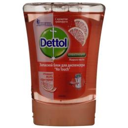 Dettol мыло для рук с ароматом грейпфрута с декоративным элементом М, запасной блок для диспенсера No Touch антибактериальное жидкое