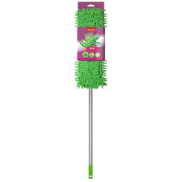 """Paclan швабра """"Green Mop soft"""" с плоской насадкой шенилл и телескопической ручкой"""