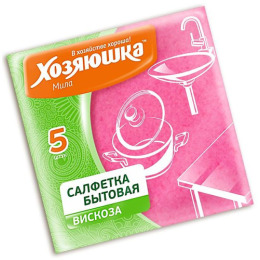 "Хозяюшка Мила салфетка бытовая ""Вискоза"" 35 х 35 см, 5 шт"