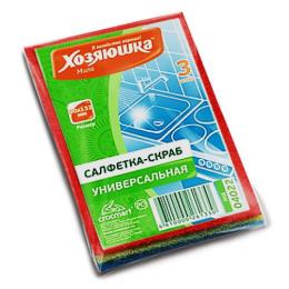 Хозяюшка Мила салфетка-скраб 90 х 133 мм, 3 шт