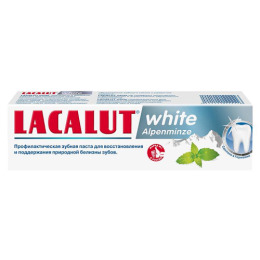 """Lacalut зубная паста """"White. Альпийская мята"""""""