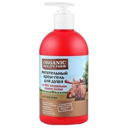 """Organic beauty farm крем-гель для душа """"Питательный"""" на 100 % натуральном лосином молоке"""