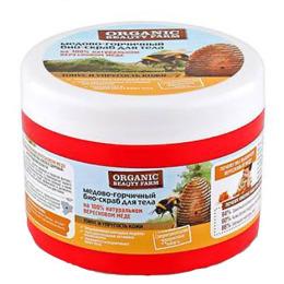"""Organic beauty farm био-скраб для тела """"Медово-горчичный"""" на 100 % натуральном вересковом меде"""