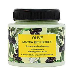 """Природная Аптека маска восстанавливающая """"OLIVE. С оливковым маслом и протеинами пшеницы"""" для ломких волос"""
