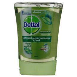 """Dettol жидкое мыло для рук """"No Touch. С ароматом зеленого чая и имбиря"""" запасной блок для диспенсера антибактериальное"""