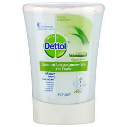 """Dettol жидкое мыло для рук """"No Touch. С алое и витамином Е"""" запасной блок для диспенсера антибактериальное"""