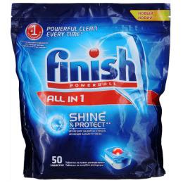 "finish средство для мытья посуды ""All in1""  для посудомоечных машин таблетки"