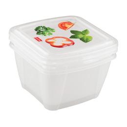 """Бытпласт комплект контейнеров для холодильника и микроволной печи """"Fresco"""" с декором"""
