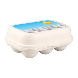 Бытпласт контейнер для яиц  с декором, 172 х 130 х 75 мм
