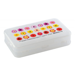 Бытпласт коробка для мелочей  с декором, 225 х 135 х 53 мм