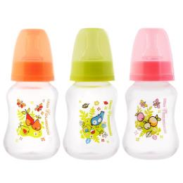 Мир детства бутылочка полипропиленовая эргономичной формы с силиконовой соской 0+