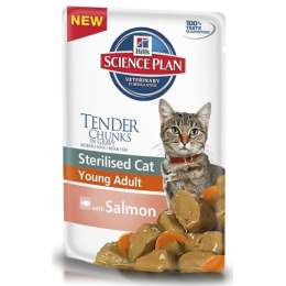 """Hill's пауч для стерилизованных кошек """"Science Plan"""" 6 месяцев-6 лет с лососем"""