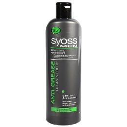 Syoss шампунь для склонных к жирности волос мужской, 500 мл