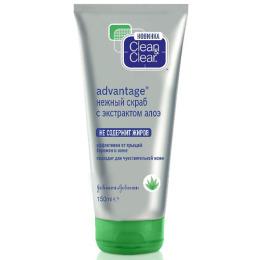 """Clean&Clear скраб """"Advantage. С экстрактом алоэ"""" нежный"""