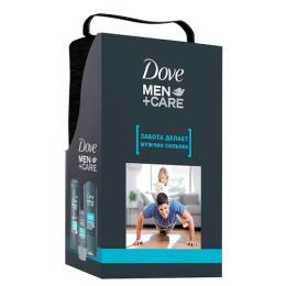 """Dove подарочный набор """"Man. Чистота и Комфорт """" гель для душа 250 мл, дезодорант  50 мл, шампунь 250 мл, косметичка"""