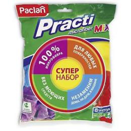 """Paclan набор универсальных хозяйственных салфеток """"Practi. Mix"""" из микрофибры"""