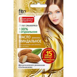 """Фитокосметик масло для волос """"Народные рецепты. Миндальное с экстрактами шиповника алоэ и липы"""""""