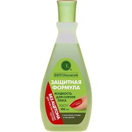 """Фитокосметик жидкость для снятия лака """"Защитная формула. с маслом оливы и миндаля"""" без ацетона пластик"""
