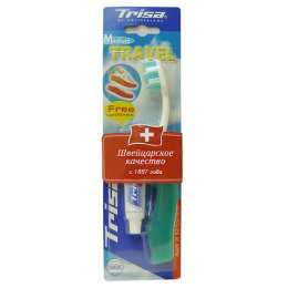 "Trisa зубная щётка ""Travel"" средняя"