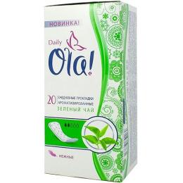 """Ola прокладки ежедневные  """"Daily Deo. Зеленый чай"""""""