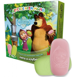 """Маша и медведь крем-мыло детское """"Клубничка. Липовый цвет"""""""