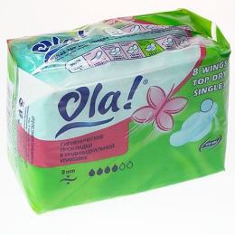 "Ola прокладки ""Classic Wings Super Singles Top Dry"""