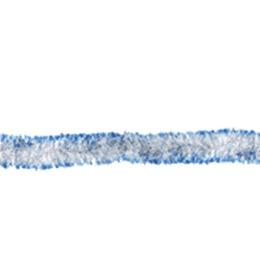 Феерика мишура глянцевая серебряная с голубыми кончиками, длина 2 м