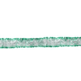 Феерика мишура глянцевая серебряная с зелеными кончиками, длина 2 м