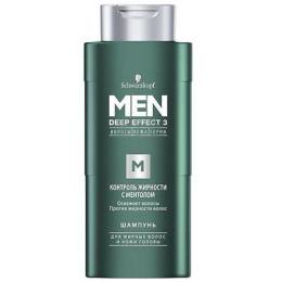"""Men Deep Effect 3 шампунь для волос """"Контроль жирности с ментолом"""" мужской, 250 мл"""
