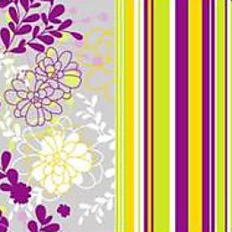 "Plushe салфетки ""Цветочная тропинка"" 33 х 33 см, 3 слоя"
