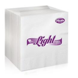 "Plushe салфетки ""Light"" белые, сплошное тиснение, 1 слой"