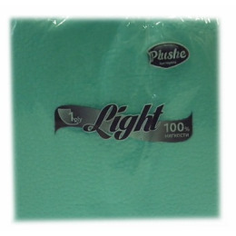 """Plushe салфетки """"Light"""" голубые, сплошное тиснение, 1 слой"""