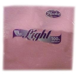 """Plushe салфетки """"Light"""" розовые, сплошное тиснение, 1 слой"""