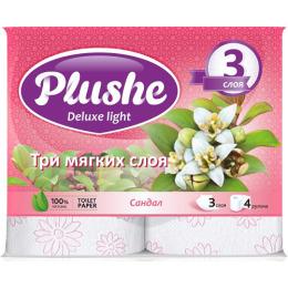 "Plushe туалетная бумага ""Deluxe Light. Сандал"" 3 слоя"