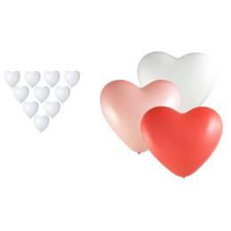 """Феерика шары """"Сердце"""" фигурные цвет белый латекс, 15 см"""