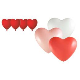 """Феерика шары """"Сердце"""" фигурные цвет красный латекс, 38 см"""