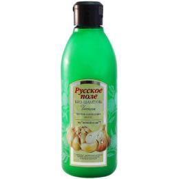"""Русское поле био-шампунь """"Чеснок. На основе активной вытяжки из чеснока"""" против выпадения волос"""