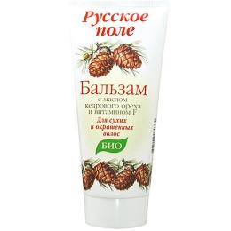 """Русское поле бальзам  для сухих и окрашенных волос """"С маслом кедрового ореха"""""""